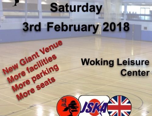 JSKA UK Championship – Saturday 3rd February 2018 – Woking, Surrey.